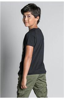 T-Shirt T-SHIRT HELP Garçon W20114B (56873) - DEELUXE