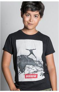 T-Shirt T-SHIRT HELP Garçon W20114B (56874) - DEELUXE