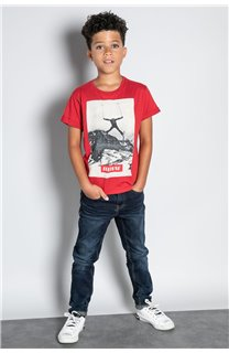 T-Shirt T-SHIRT HELP Garçon W20114B (56876) - DEELUXE