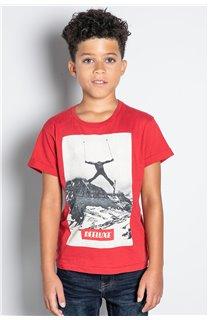 T-Shirt T-SHIRT HELP Garçon W20114B (56877) - DEELUXE