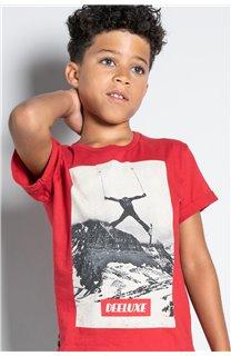 T-Shirt T-SHIRT HELP Garçon W20114B (56879) - DEELUXE