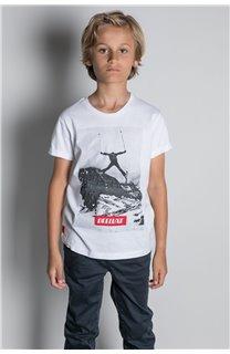 T-Shirt T-SHIRT HELP Garçon W20114B (56880) - DEELUXE
