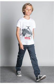 T-Shirt T-SHIRT HELP Garçon W20114B (56881) - DEELUXE