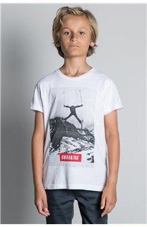 T-Shirt T-SHIRT HELP Garçon W20114B (56882) - DEELUXE