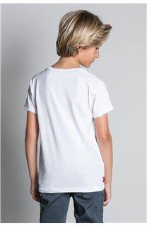 T-Shirt T-SHIRT HELP Garçon W20114B (56883) - DEELUXE