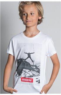 T-Shirt T-SHIRT HELP Garçon W20114B (56884) - DEELUXE