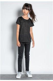 T-Shirt T-SHIRT GLITTER Fille W20118G (57149) - DEELUXE