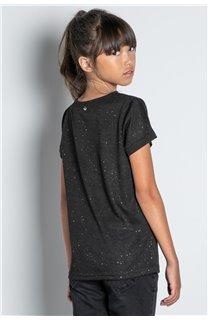 T-Shirt T-SHIRT GLITTER Fille W20118G (57151) - DEELUXE