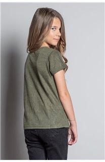 T-Shirt T-SHIRT GLITTER Fille W20118G (57156) - DEELUXE