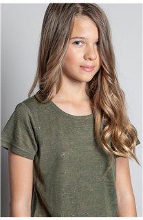 T-Shirt T-SHIRT GLITTER Fille W20118G (57157) - DEELUXE