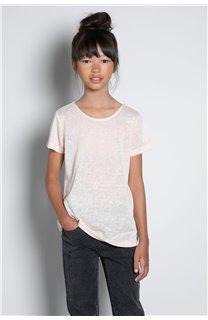 T-Shirt T-SHIRT GLITTER Fille W20118G (57158) - DEELUXE