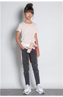T-Shirt T-SHIRT GLITTER Fille W20118G (57159) - DEELUXE