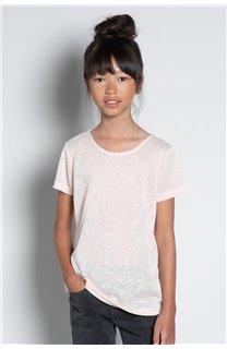 T-Shirt T-SHIRT GLITTER Fille W20118G (57160) - DEELUXE