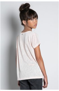 T-Shirt T-SHIRT GLITTER Fille W20118G (57161) - DEELUXE