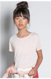 T-Shirt T-SHIRT GLITTER Fille W20118G (57162) - DEELUXE