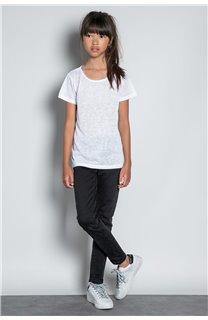 T-Shirt T-SHIRT GLITTER Fille W20118G (57163) - DEELUXE