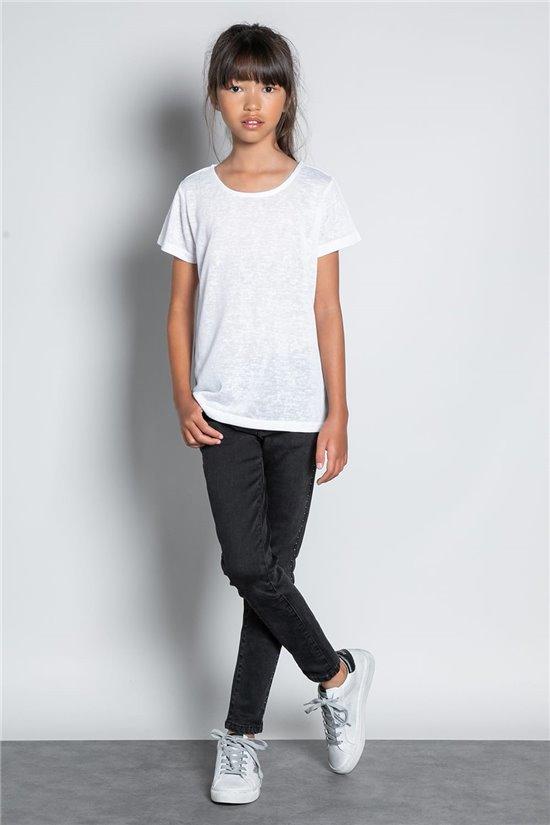 T-Shirt T-SHIRT GLITTER Fille W20118G (57148) - DEELUXE