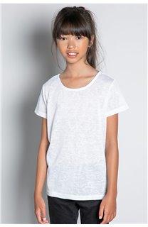T-Shirt T-SHIRT GLITTER Fille W20118G (57165) - DEELUXE