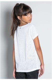 T-Shirt T-SHIRT GLITTER Fille W20118G (57166) - DEELUXE