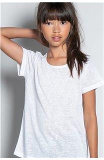 T-Shirt T-SHIRT GLITTER Fille W20118G (57167) - DEELUXE