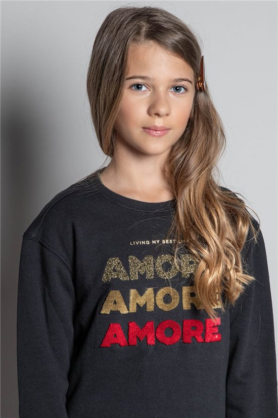 Sweat SWEAT AMORE Fille W20504G (57178) - DEELUXE