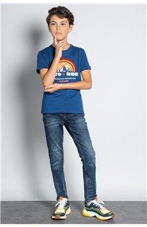 T-Shirt T-SHIRT FOREIGN Garçon W20103B (57211) - DEELUXE
