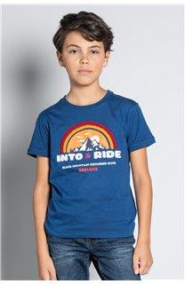 T-Shirt T-SHIRT FOREIGN Garçon W20103B (57212) - DEELUXE