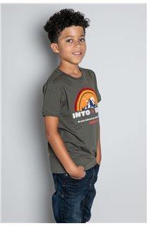 T-Shirt T-SHIRT FOREIGN Garçon W20103B (57216) - DEELUXE