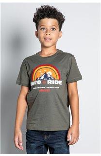 T-Shirt T-SHIRT FOREIGN Garçon W20103B (57217) - DEELUXE