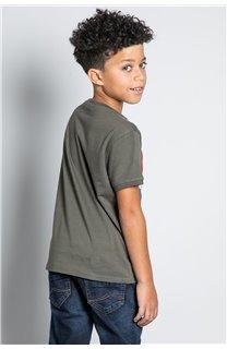 T-Shirt T-SHIRT FOREIGN Garçon W20103B (57218) - DEELUXE