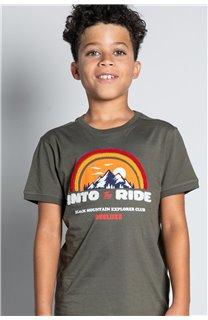 T-Shirt T-SHIRT FOREIGN Garçon W20103B (57219) - DEELUXE