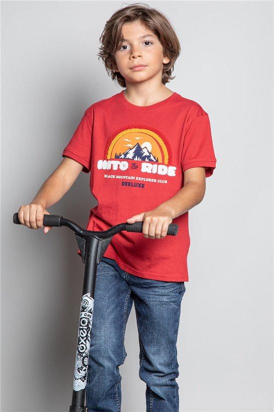 T-Shirt T-SHIRT FOREIGN Garçon W20103B (57210) - DEELUXE