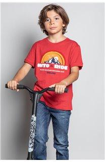 T-Shirt T-SHIRT FOREIGN Garçon W20103B (57220) - DEELUXE
