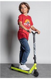 T-Shirt T-SHIRT FOREIGN Garçon W20103B (57221) - DEELUXE