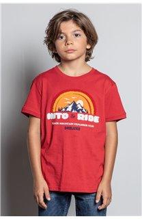 T-Shirt T-SHIRT FOREIGN Garçon W20103B (57222) - DEELUXE
