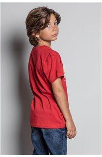 T-Shirt T-SHIRT FOREIGN Garçon W20103B (57223) - DEELUXE
