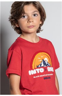 T-Shirt T-SHIRT FOREIGN Garçon W20103B (57224) - DEELUXE