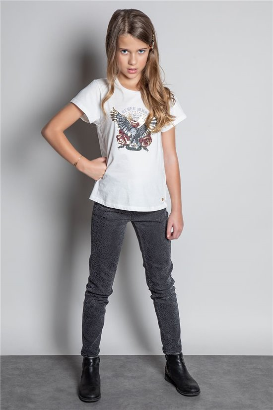 T-Shirt T-SHIRT REBEL Fille W20119G (56680) - DEELUXE