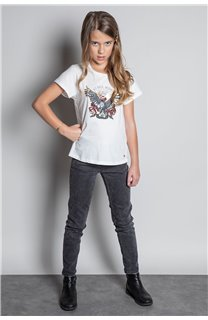 T-Shirt T-SHIRT REBEL Fille W20119G (57425) - DEELUXE