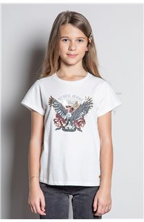 T-Shirt T-SHIRT REBEL Fille W20119G (57426) - DEELUXE