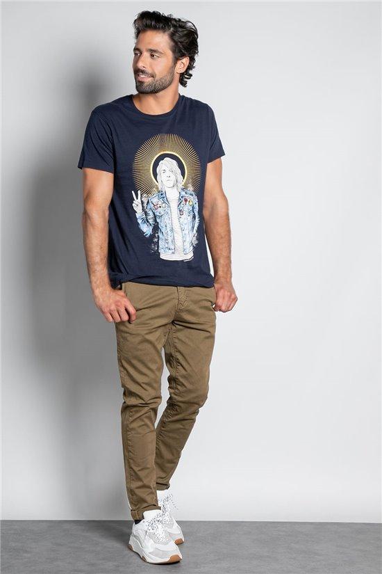 T-Shirt T-SHIRT NEVERMIND Homme W20183M (57922) - DEELUXE