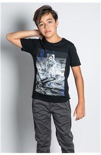 T-Shirt T-SHIRT INVADER Garçon W20157B (58076) - DEELUXE