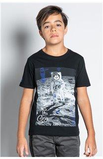T-Shirt T-SHIRT INVADER Garçon W20157B (58077) - DEELUXE