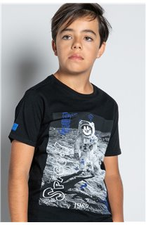 T-Shirt T-SHIRT INVADER Garçon W20157B (58079) - DEELUXE