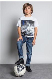 T-Shirt T-SHIRT INVADER Garçon W20157B (58081) - DEELUXE