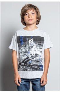 T-Shirt T-SHIRT INVADER Garçon W20157B (58082) - DEELUXE