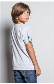 T-Shirt T-SHIRT INVADER Garçon W20157B (58083) - DEELUXE
