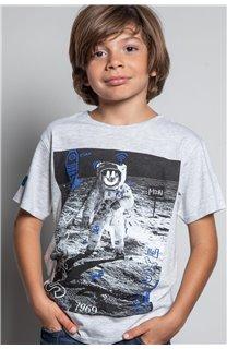 T-Shirt T-SHIRT INVADER Garçon W20157B (58084) - DEELUXE