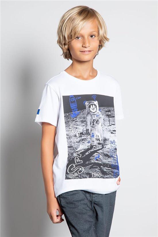 T-Shirt T-SHIRT INVADER Garçon W20157B (58075) - DEELUXE