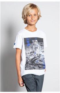 T-Shirt T-SHIRT INVADER Garçon W20157B (58085) - DEELUXE